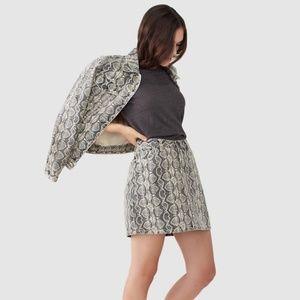 [BLANKNYC] Snake Print Denim Mini Skirt